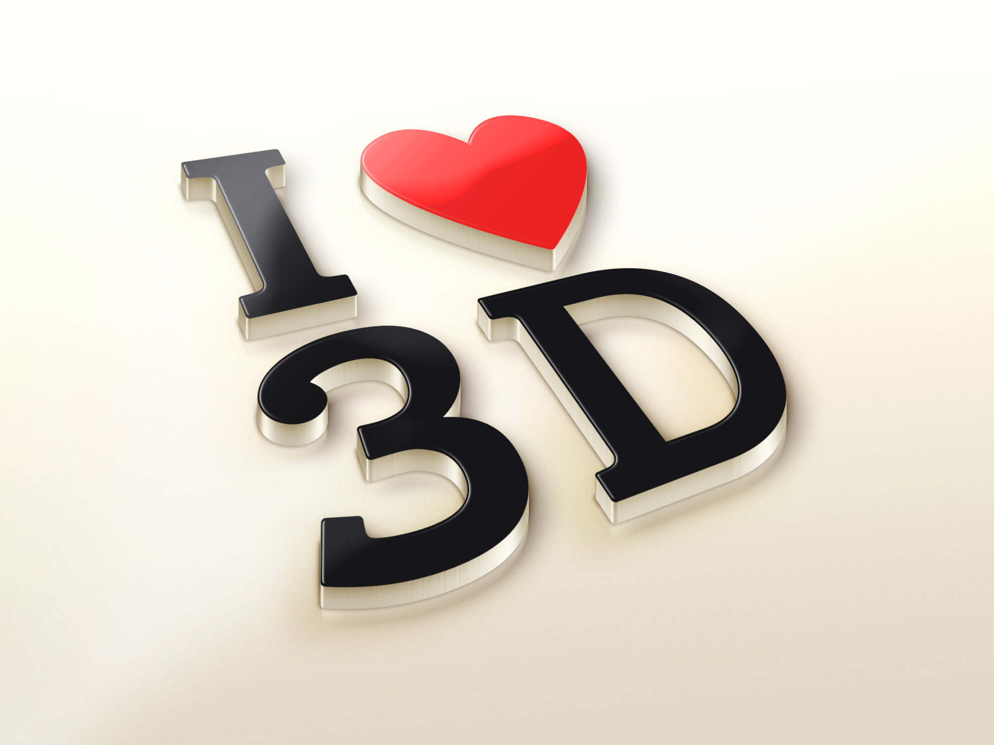 i love 3d logo mockup graphicburger