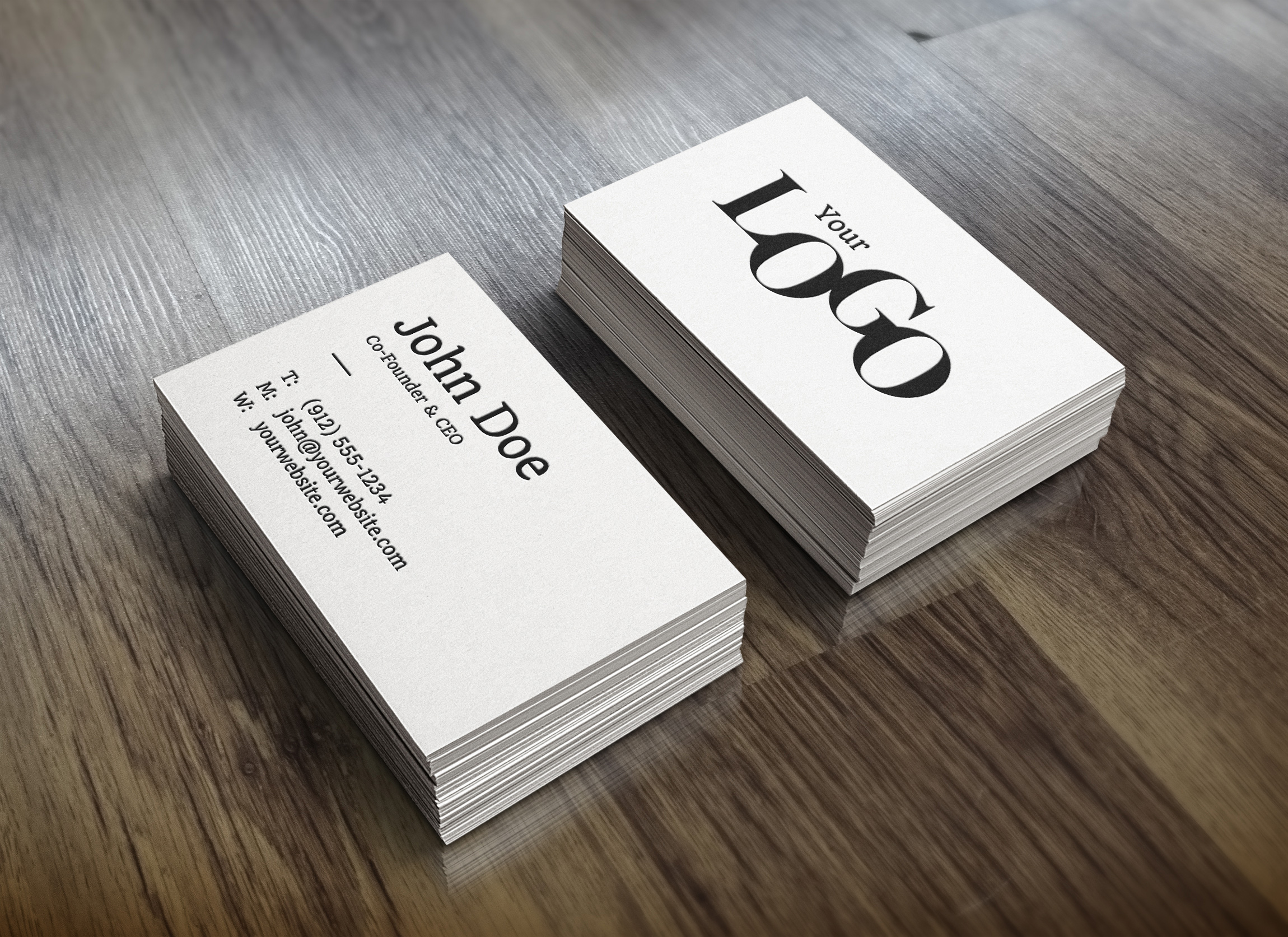 Realistic Business Card MockUp : GraphicBurger