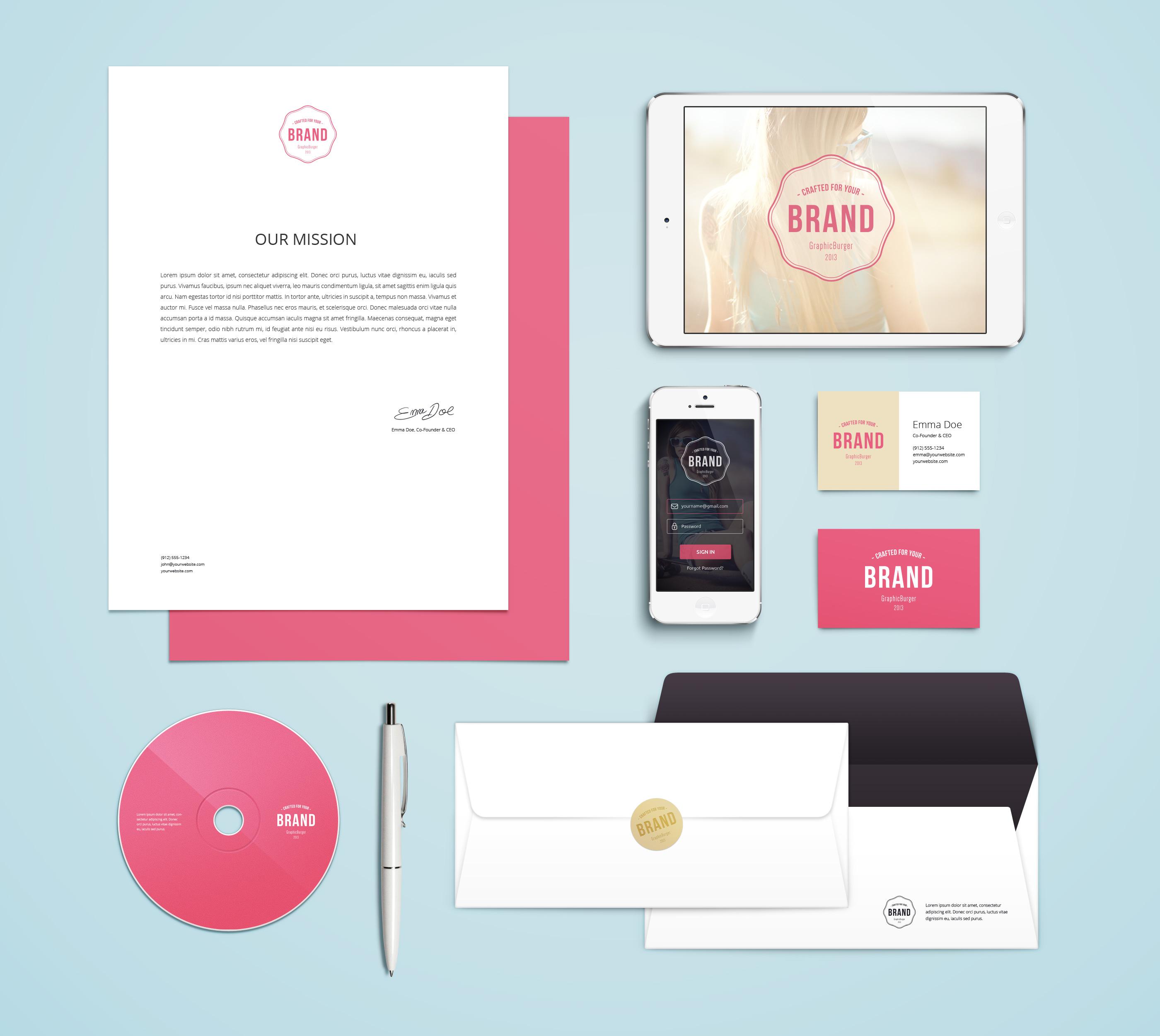 Branding / Identity MockUp Vol.4 | GraphicBurger