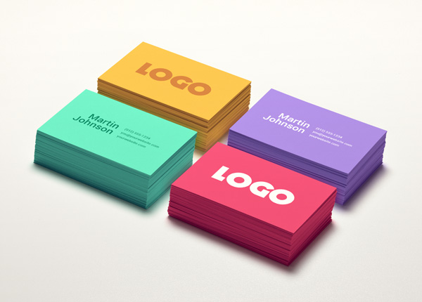 Colorful Business Cards Mock-up
