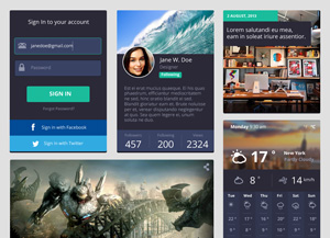 Flat-Rounded-Square-UI-Kit-300