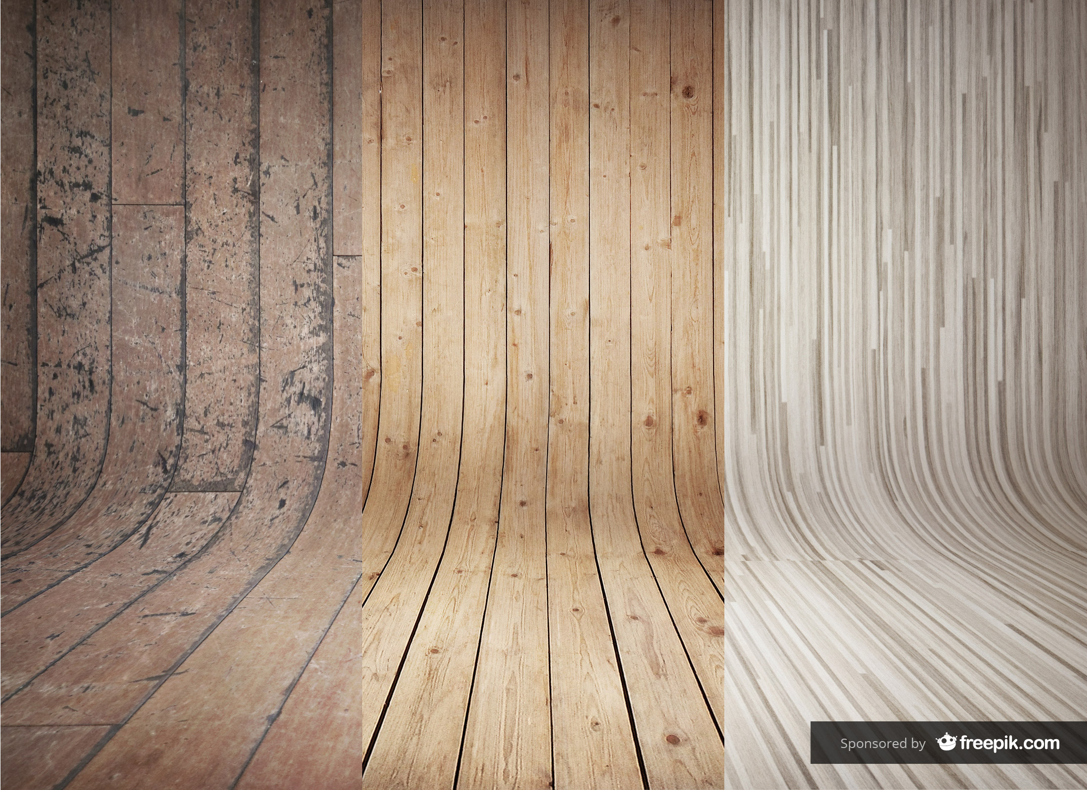 3 curved wooden backdrops vol 2
