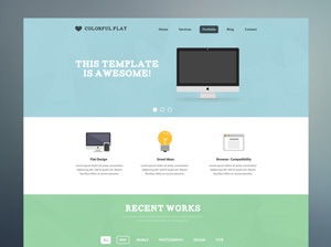 Colorful-Flat-PSD-Template-300