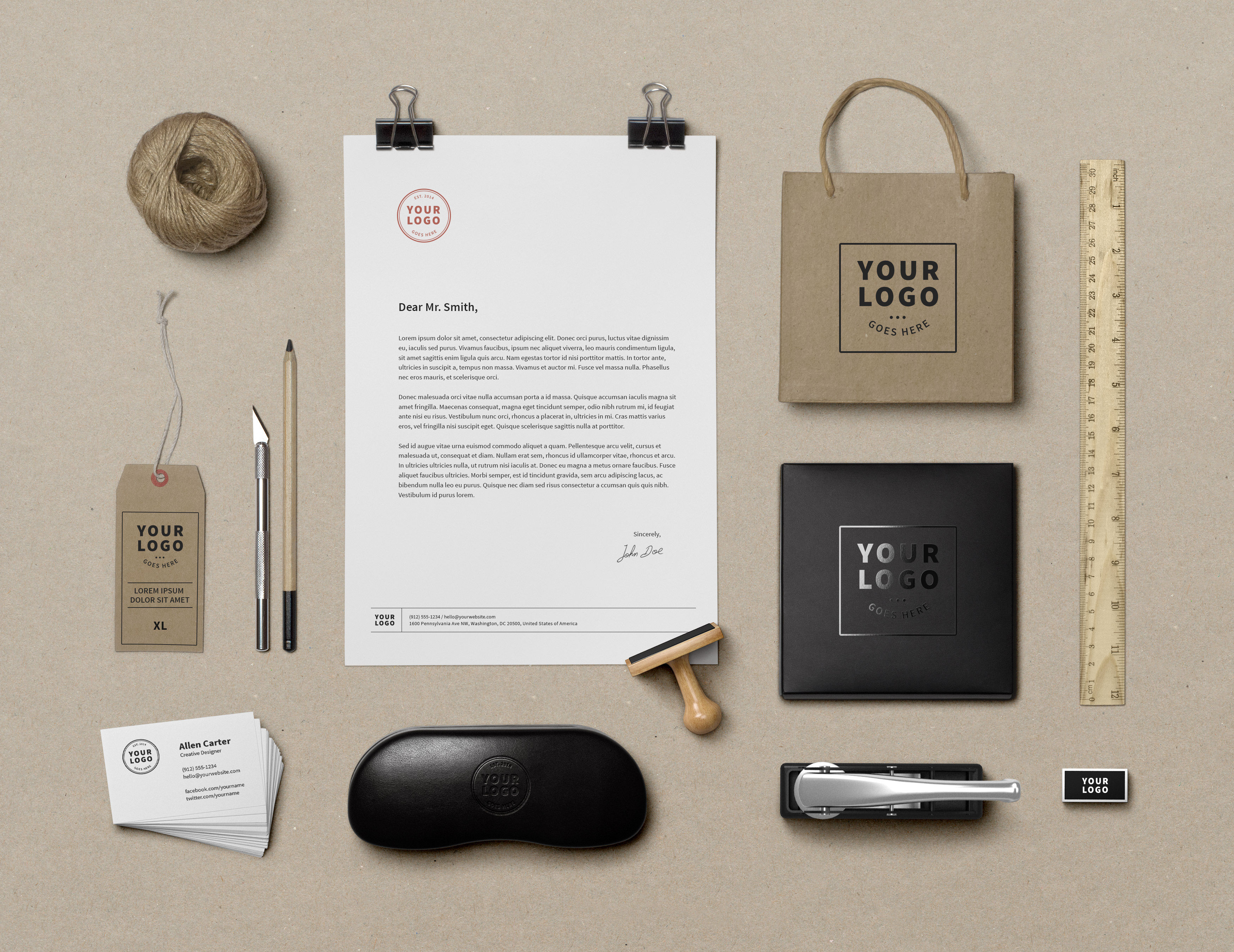 Branding Identity Mockup Vol 9 Graphicburger