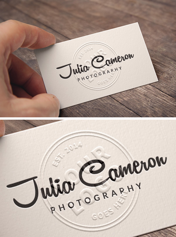 embossed business card mockup