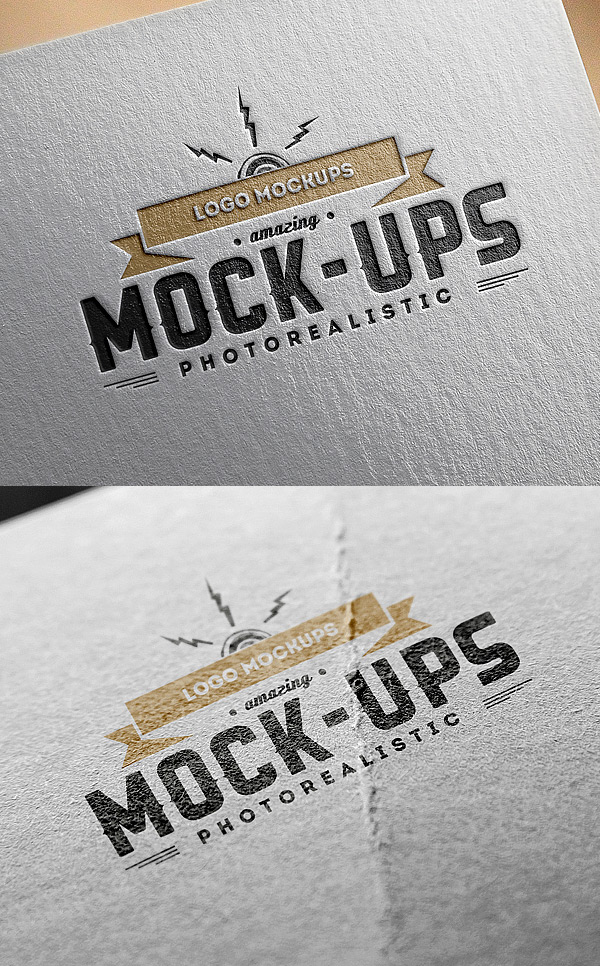 Logo MockUps – Paper Edition | GraphicBurger