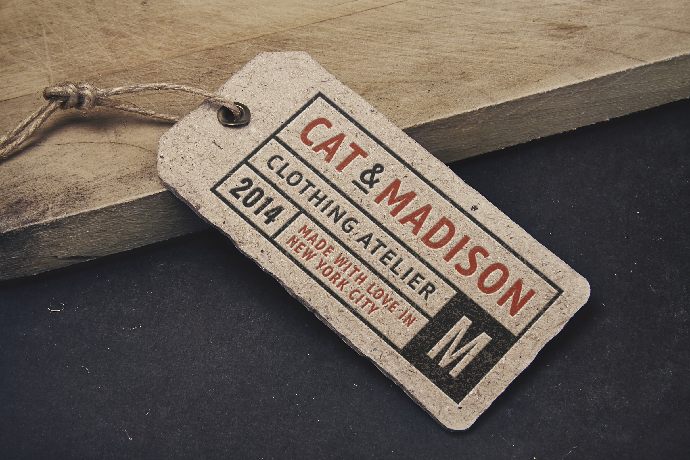 Vintage Label Tag Mockup Graphicburger