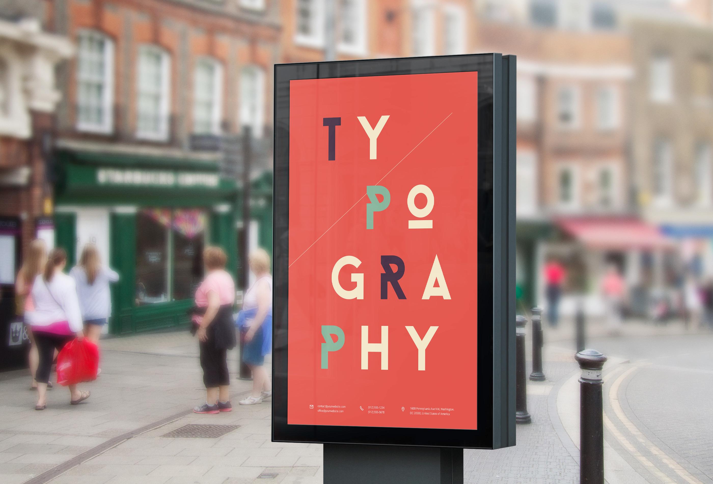 Street Billboard PSD MockUp : GraphicBurger