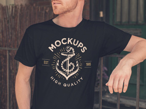 Men S T Shirt Mockup Graphicburger