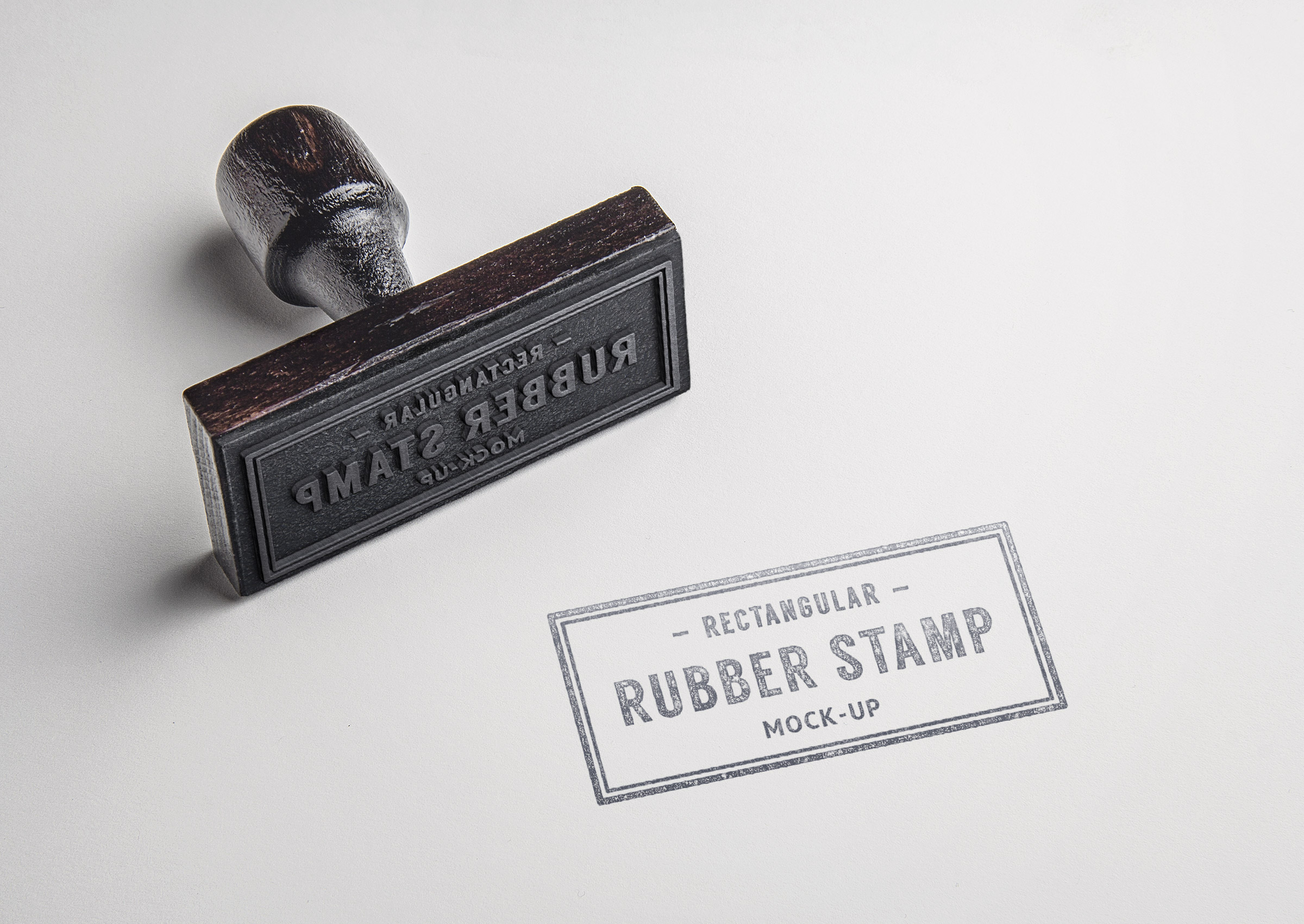 Rubber Stamp Psd Mockup 2 Graphicburger