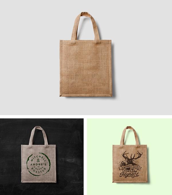 Label Tag Mockup Design: Eco Bag MockUp