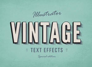 3-Illustrator-VIntage-Text-Effects-300