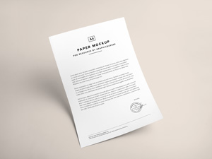 A4 Paper Psd Mockup Graphicburger