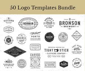 50 Logo Templates – sponsored