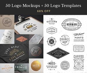 50 Logo Mocks 50 Logo Templates – sponsored