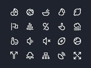 IconAlone: 110 Line Icons