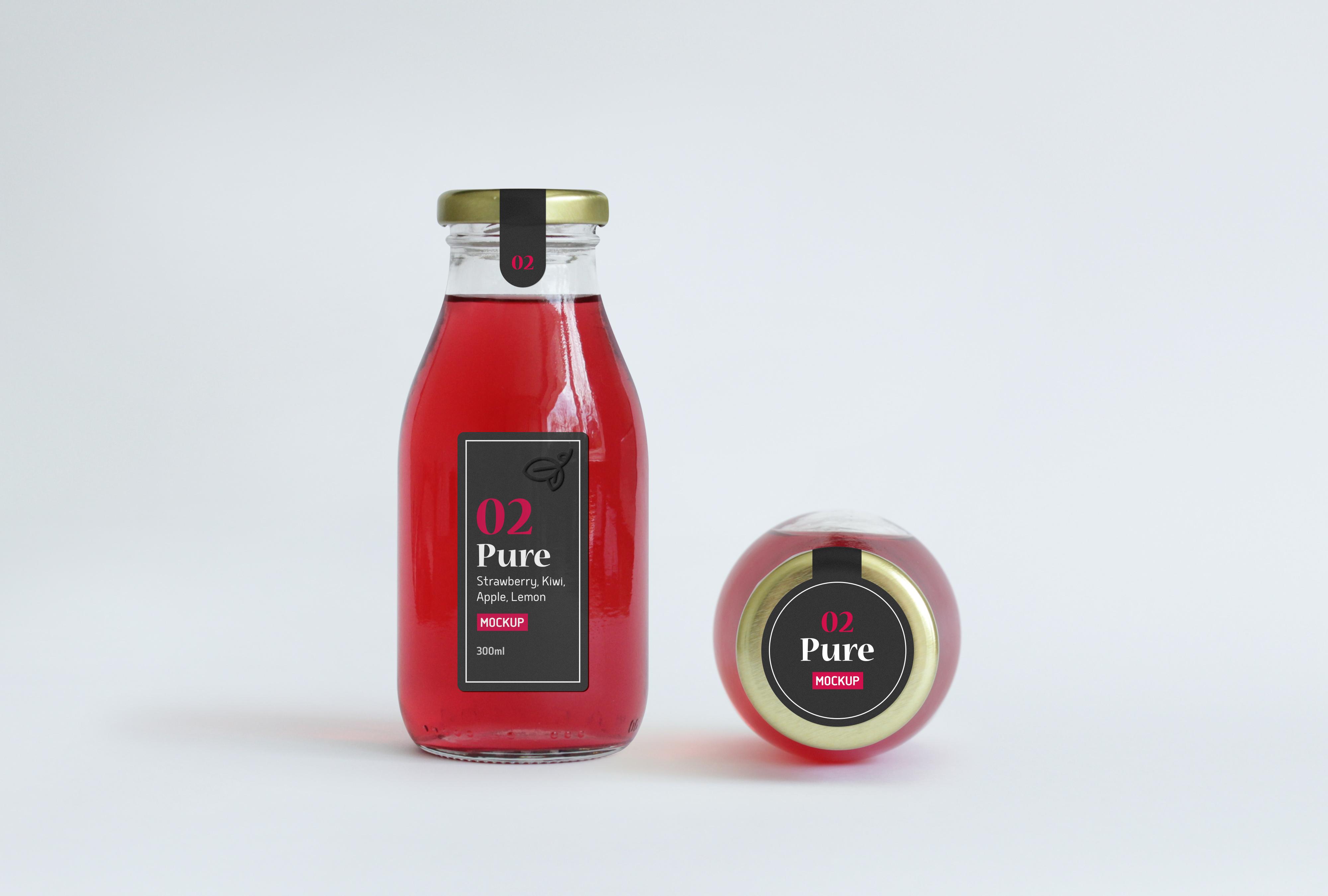 juice bottle packaging mockup graphicburger
