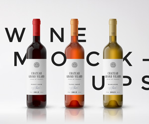 Wine Packaging Mockups – sponsored