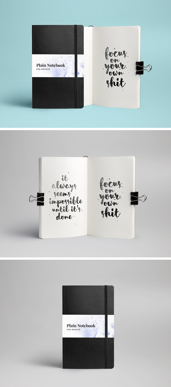 Notebook MockUp PSD | GraphicBurger