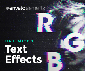 EnvatoElements Text Effects – sponsored