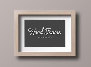 wood photo frame mockup graphicburger