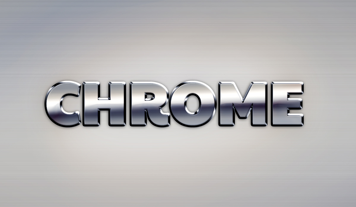Chrome Text Effect | GraphicBurger