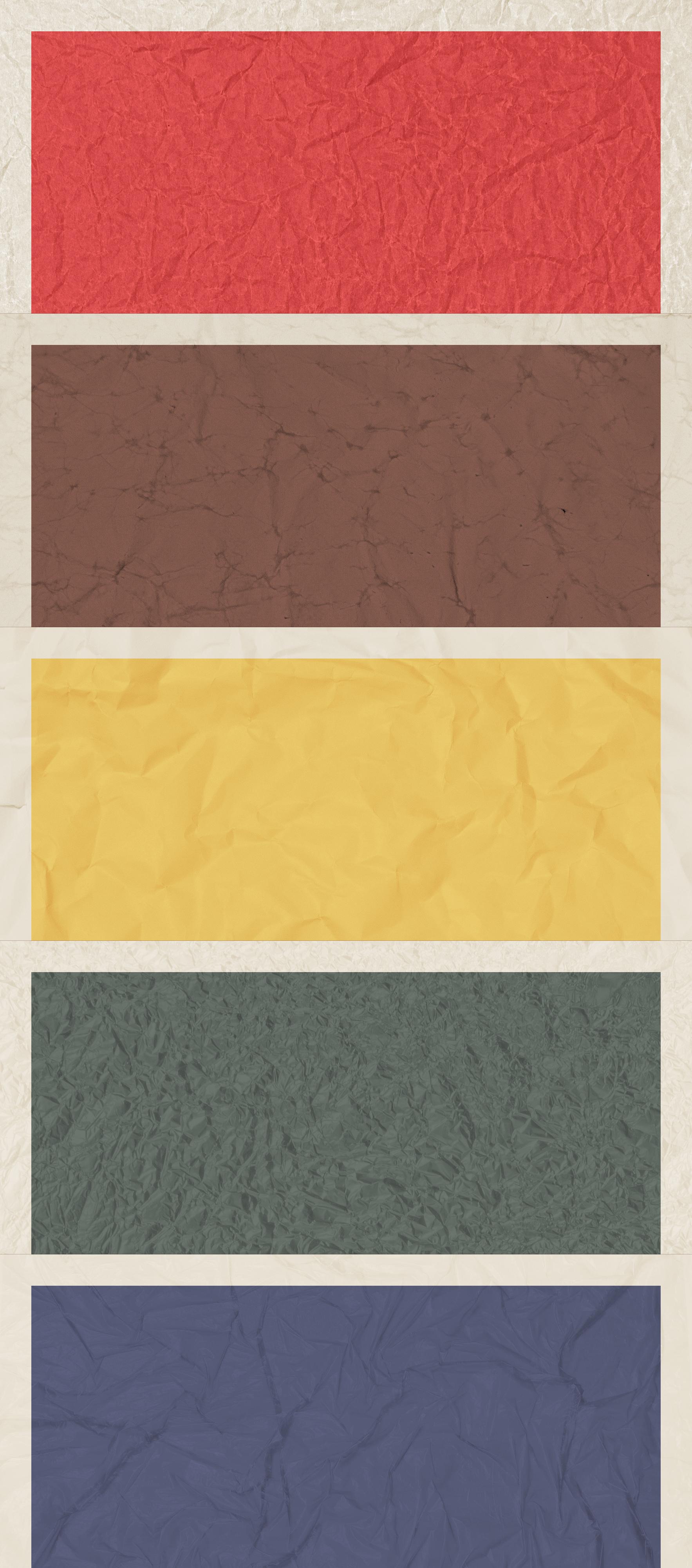 5 wrinkled poster backgrounds