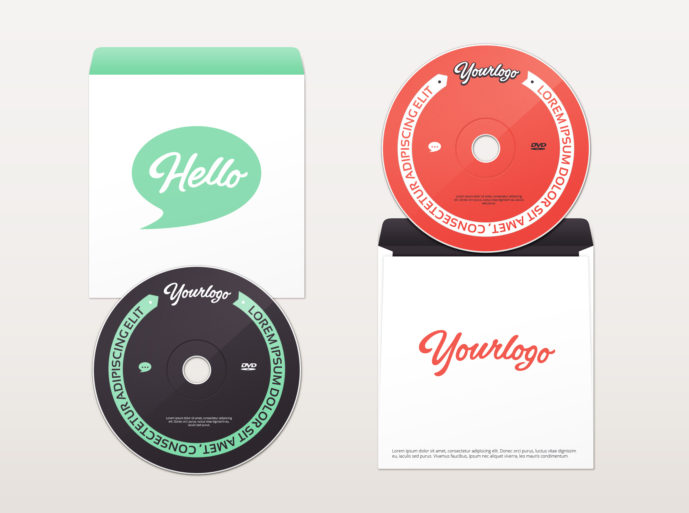 Dvd Amp Envelope Mockup Graphicburger
