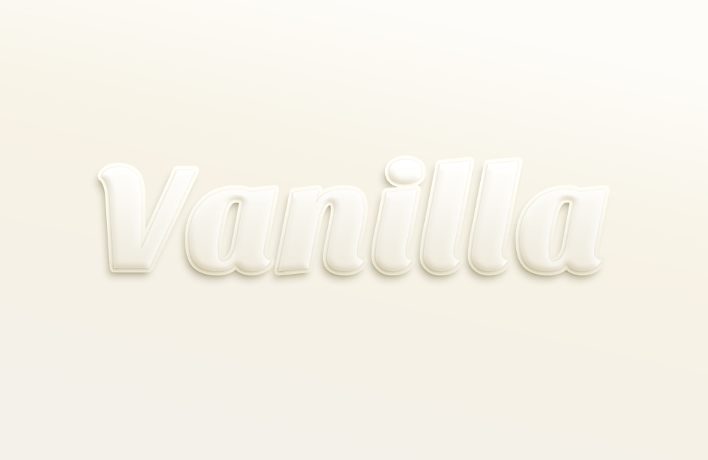 vanilla text effect