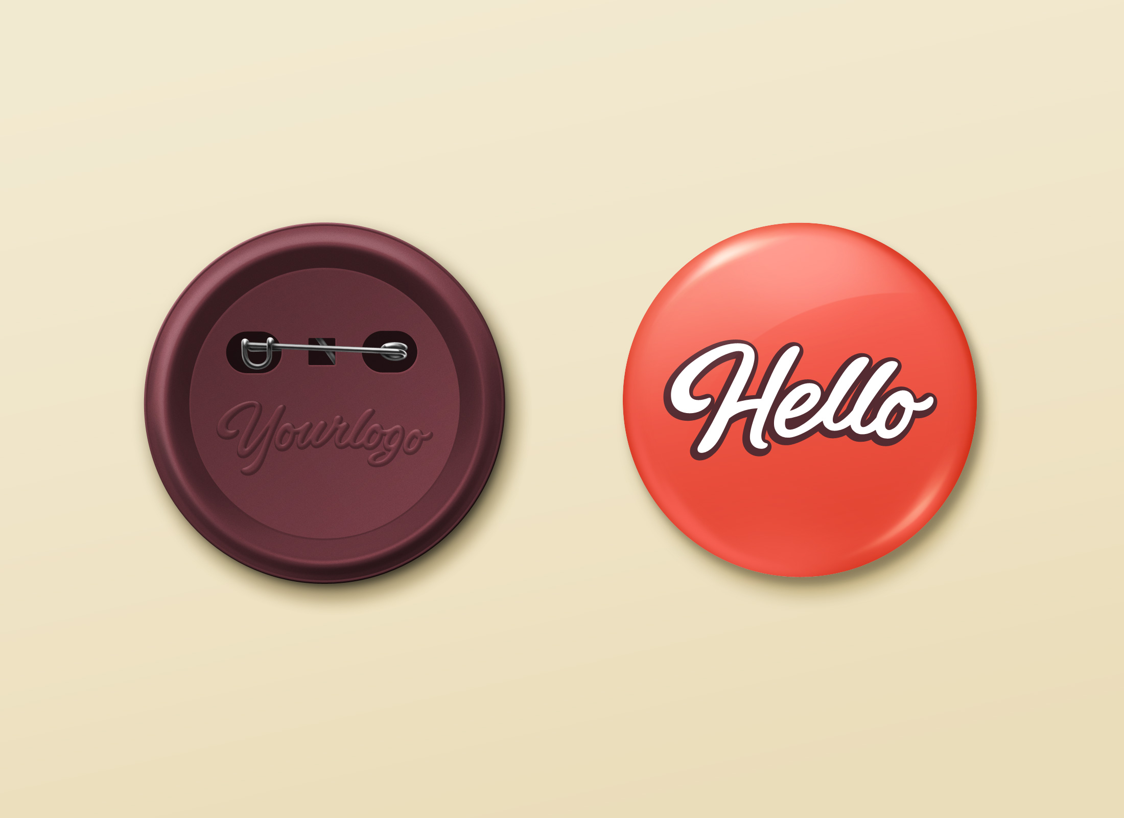 Pin Button Badge MockUp | GraphicBurger