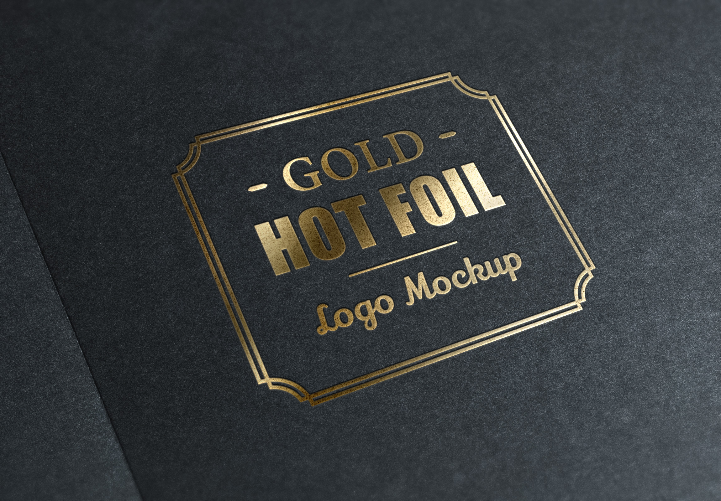 gold stamping logo mockup graphicburger