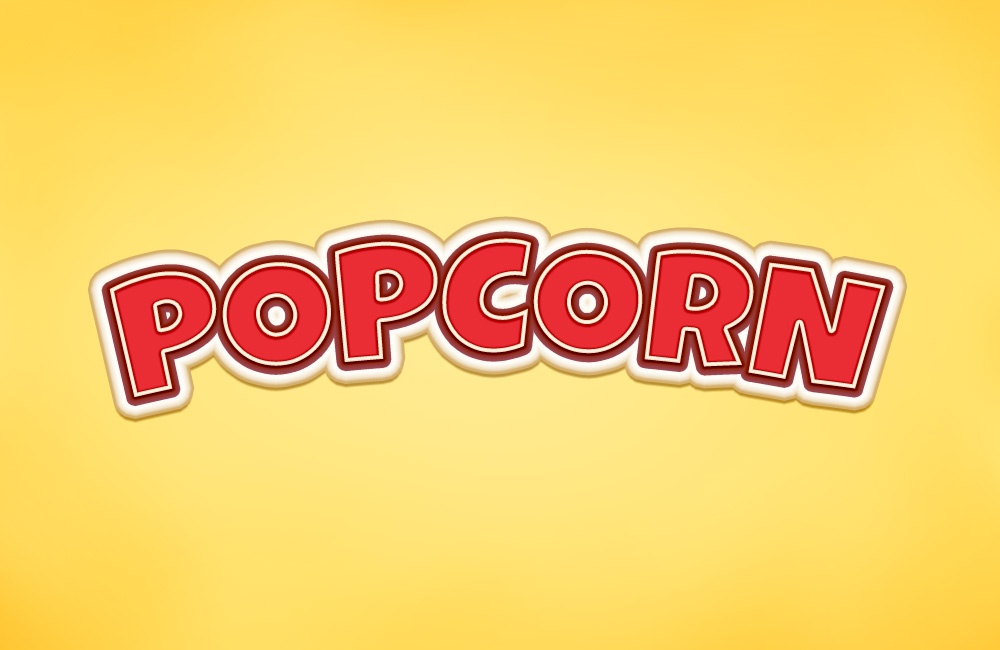 popcorn text effect
