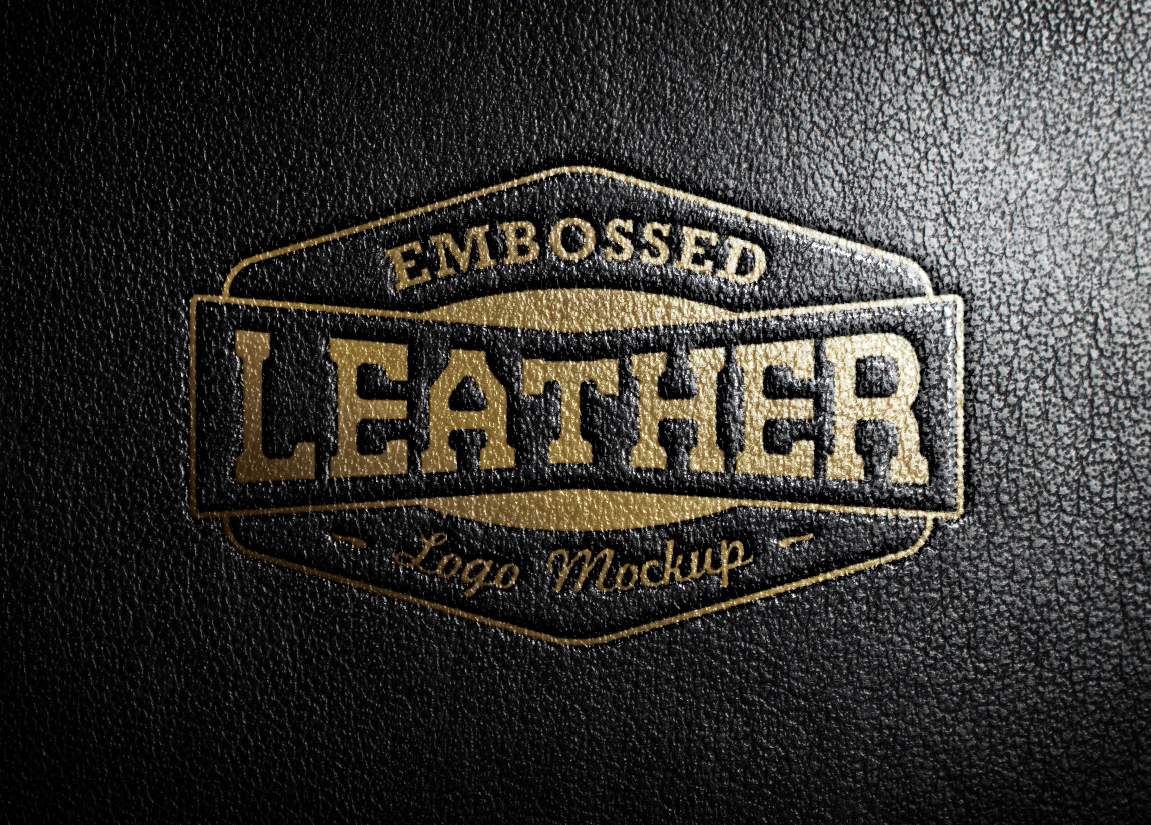 leather stamping logo mockup graphicburger leather stamping logo mockup