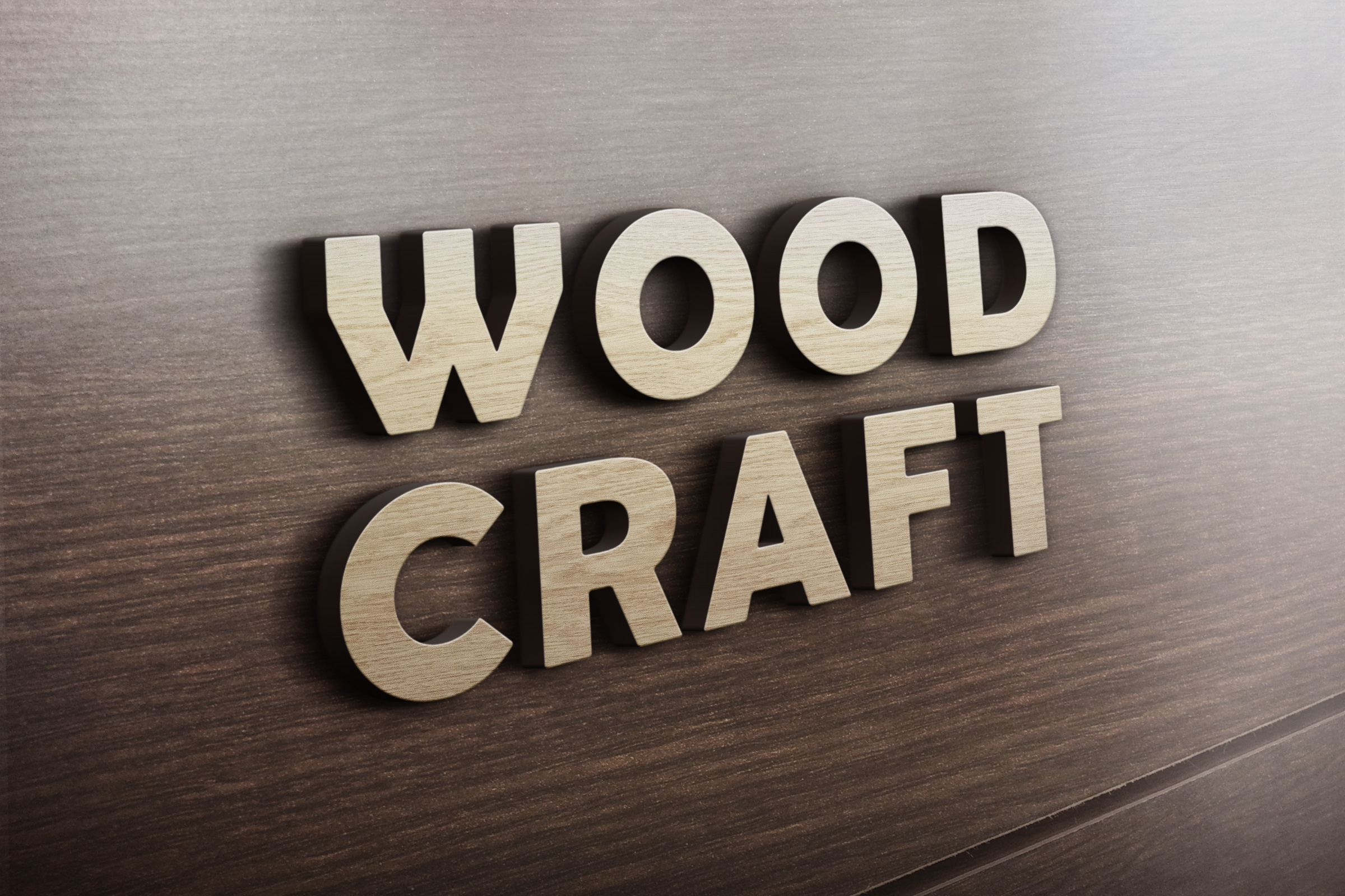 3D Wooden Logo MockUp | GraphicBurger