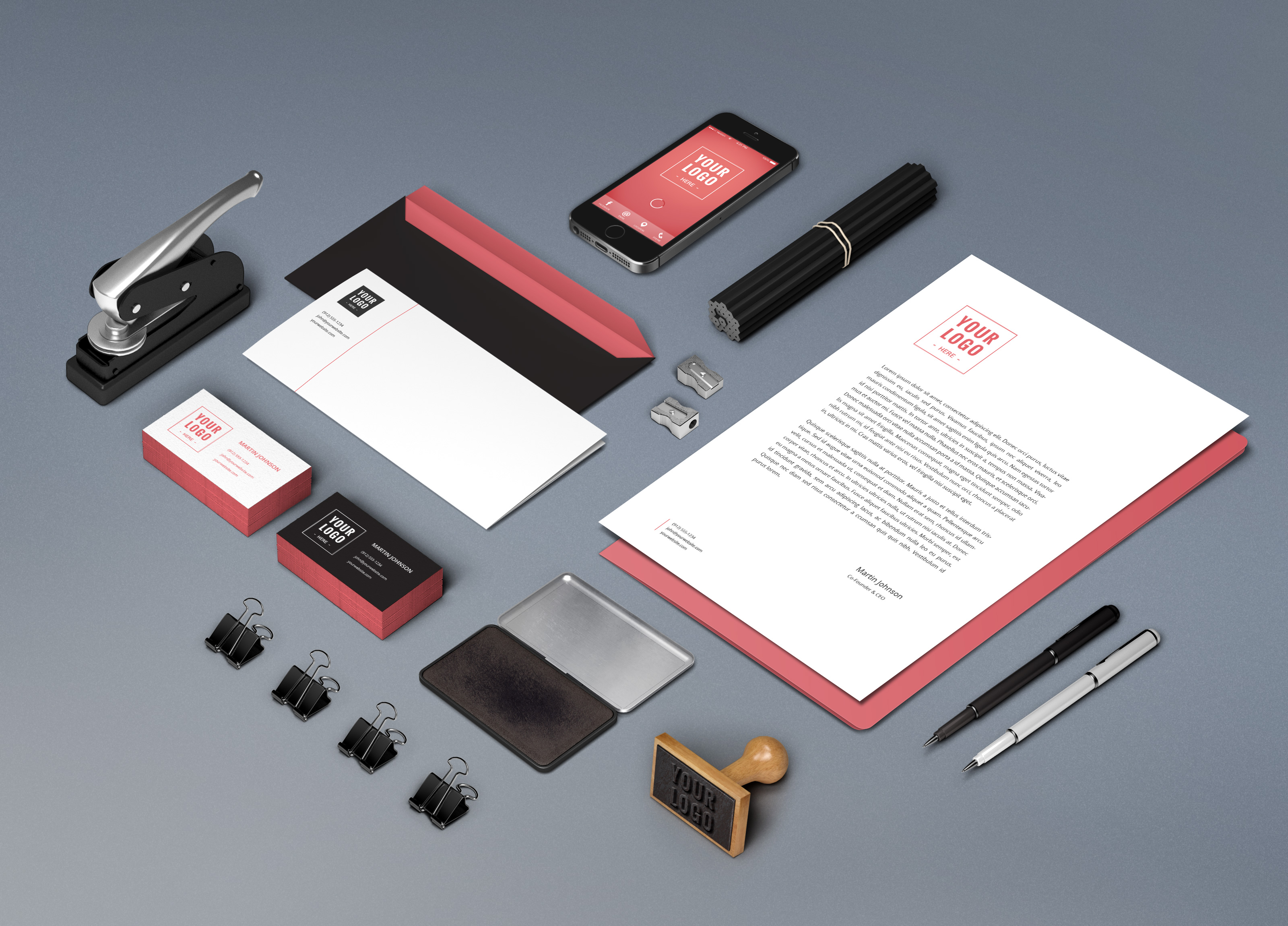 Branding identity mockup vol6 graphicburger full preview reheart Images