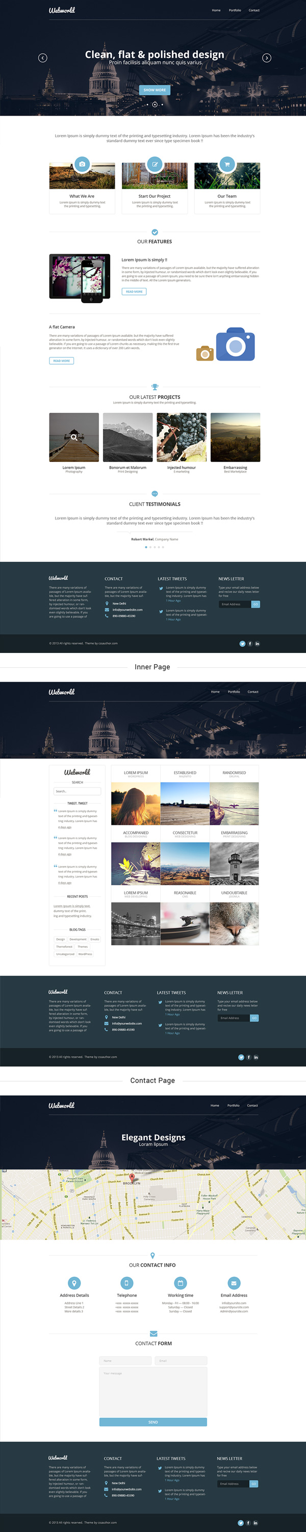 website design templates psd