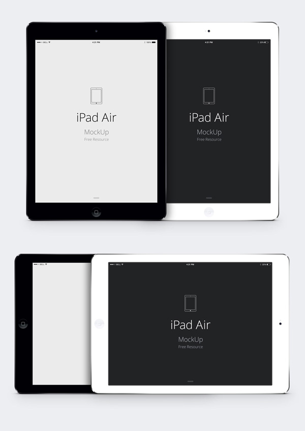 ipad air psd vector mockup | graphicburger, Powerpoint templates