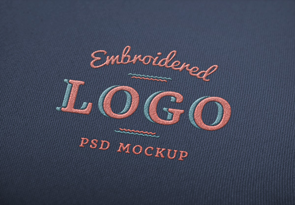 Embroidered Logo Mockup Graphicburger