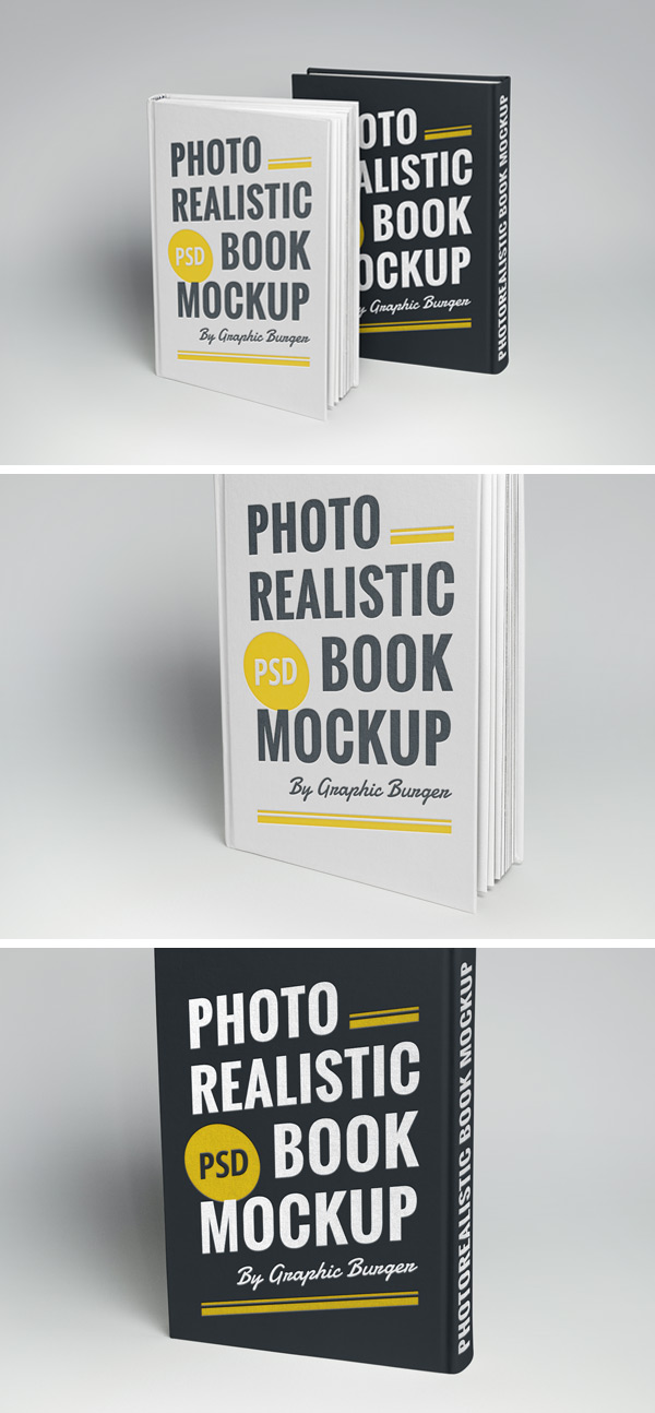 Hardcover Book MockUp   GraphicBurger