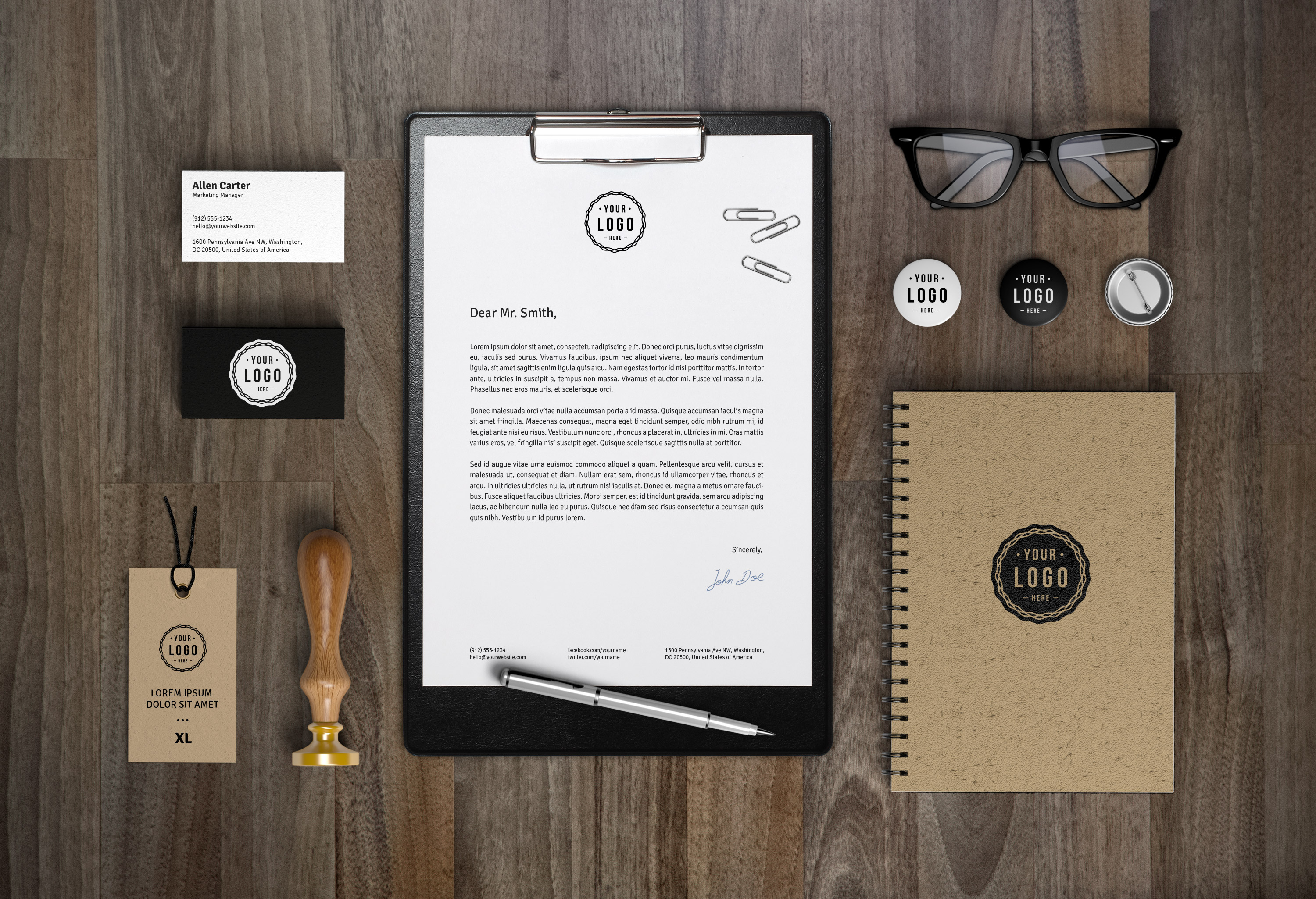 Branding identity mockup vol7 graphicburger full preview reheart Image collections