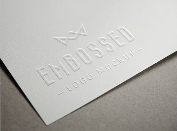 embossed paper logo mockup graphicburger