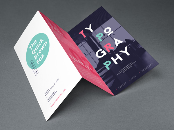 Tri Fold Brochure Mockup  Graphicburger