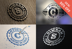 55 Photorealistic Logo MockUps