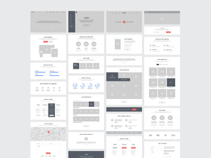one page website wireframes graphicburger. Black Bedroom Furniture Sets. Home Design Ideas