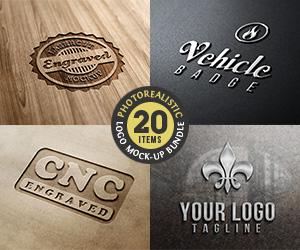 Sponsored – Photorealistic Logo Mock-Up Bundle