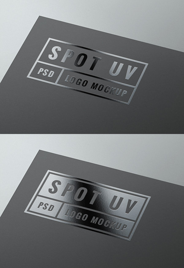 Spot UV Logo MockUp | GraphicBurger