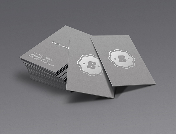 Silver business card mockup graphicburger silver business card mockup reheart Images