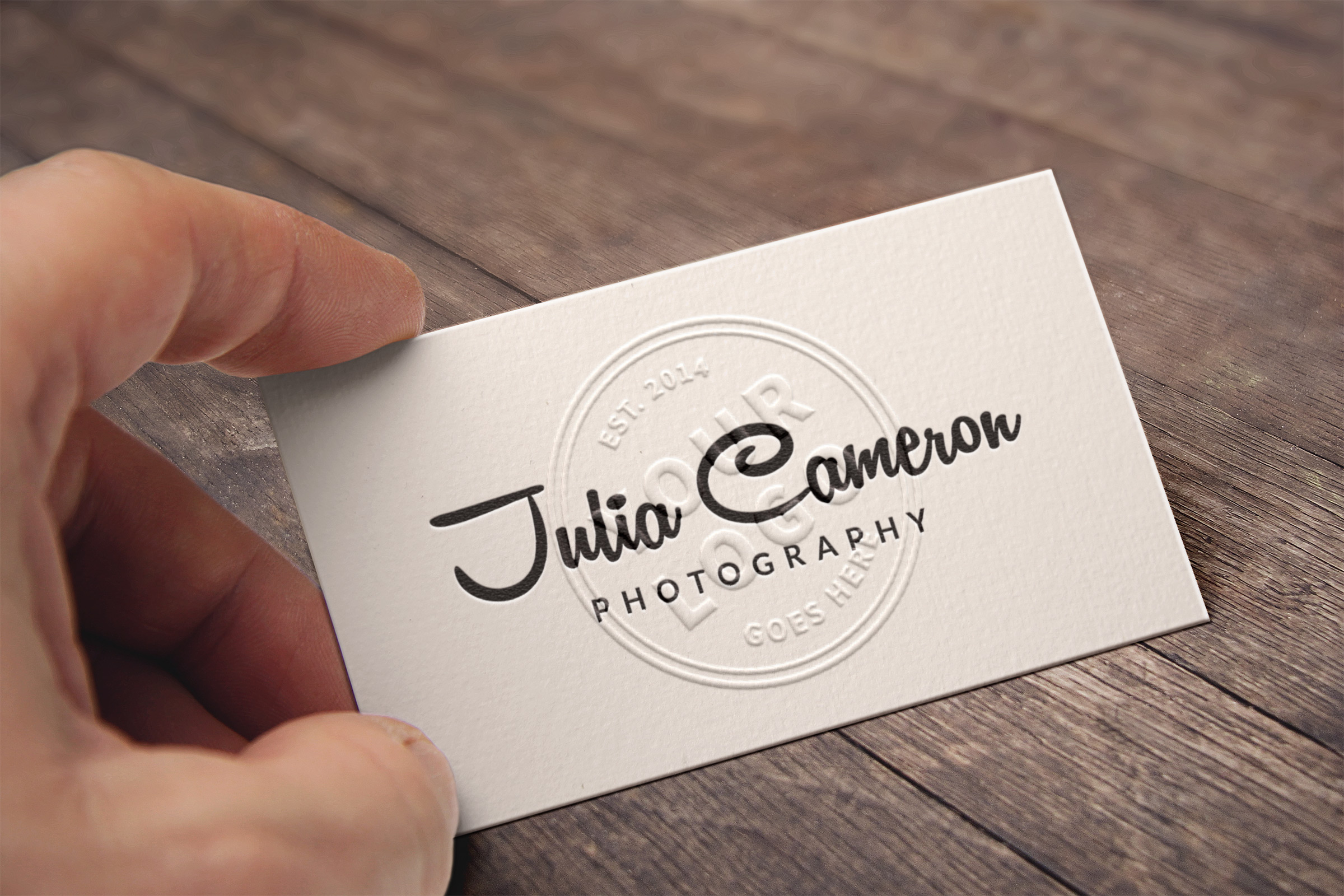 Embossed Business Card MockUp | GraphicBurger