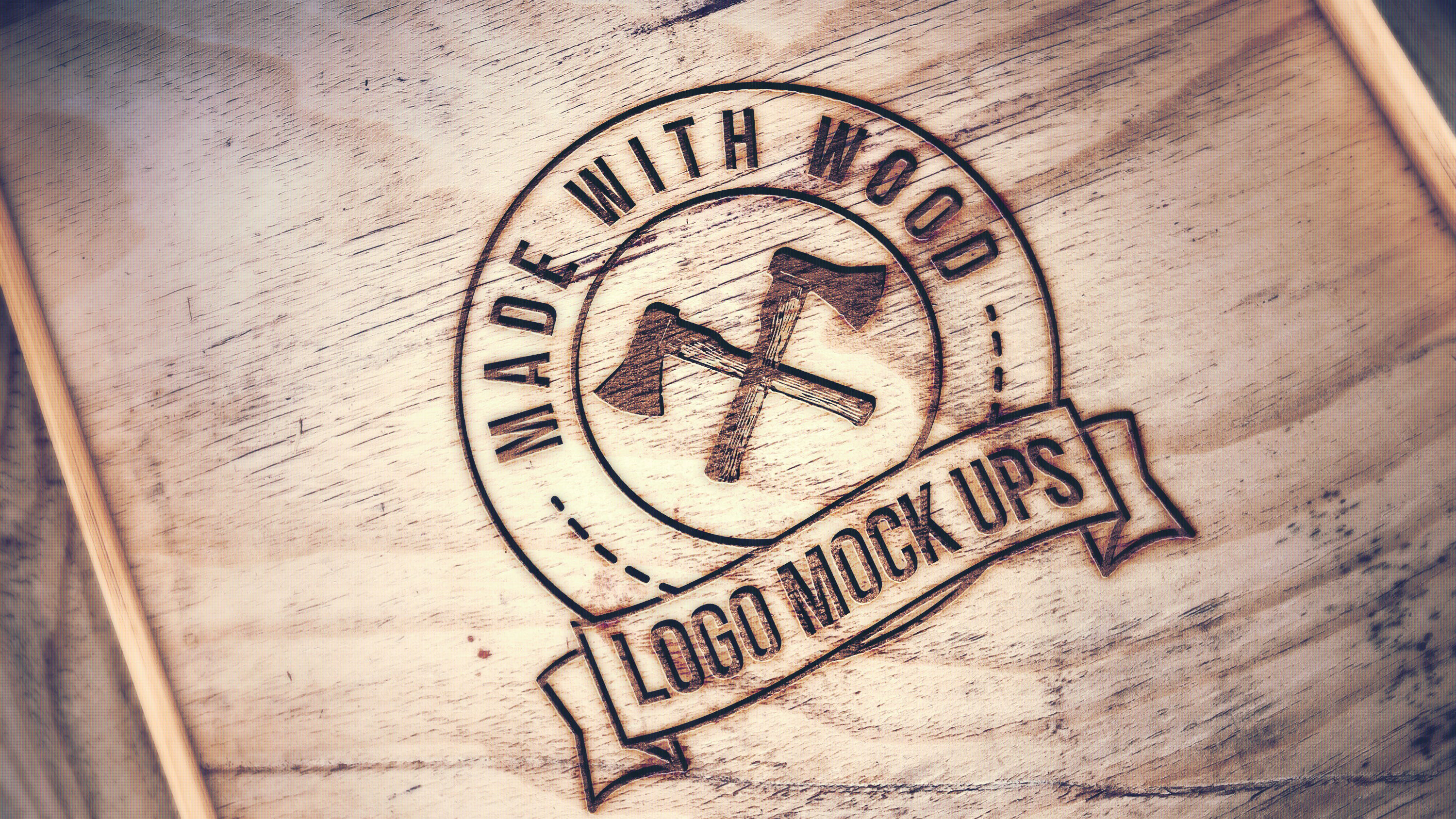 Wood graphicburger engraved wood mockup pronofoot35fo Image collections
