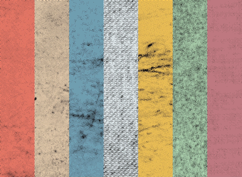 7 Halftone Textures Graphicburger